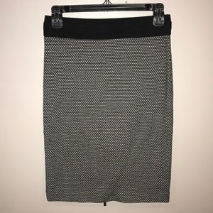 BCBGMaxazaria black/tan skirt (zips up the back)